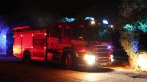 residents evacuated from care home in stanwell after fire rips through the building