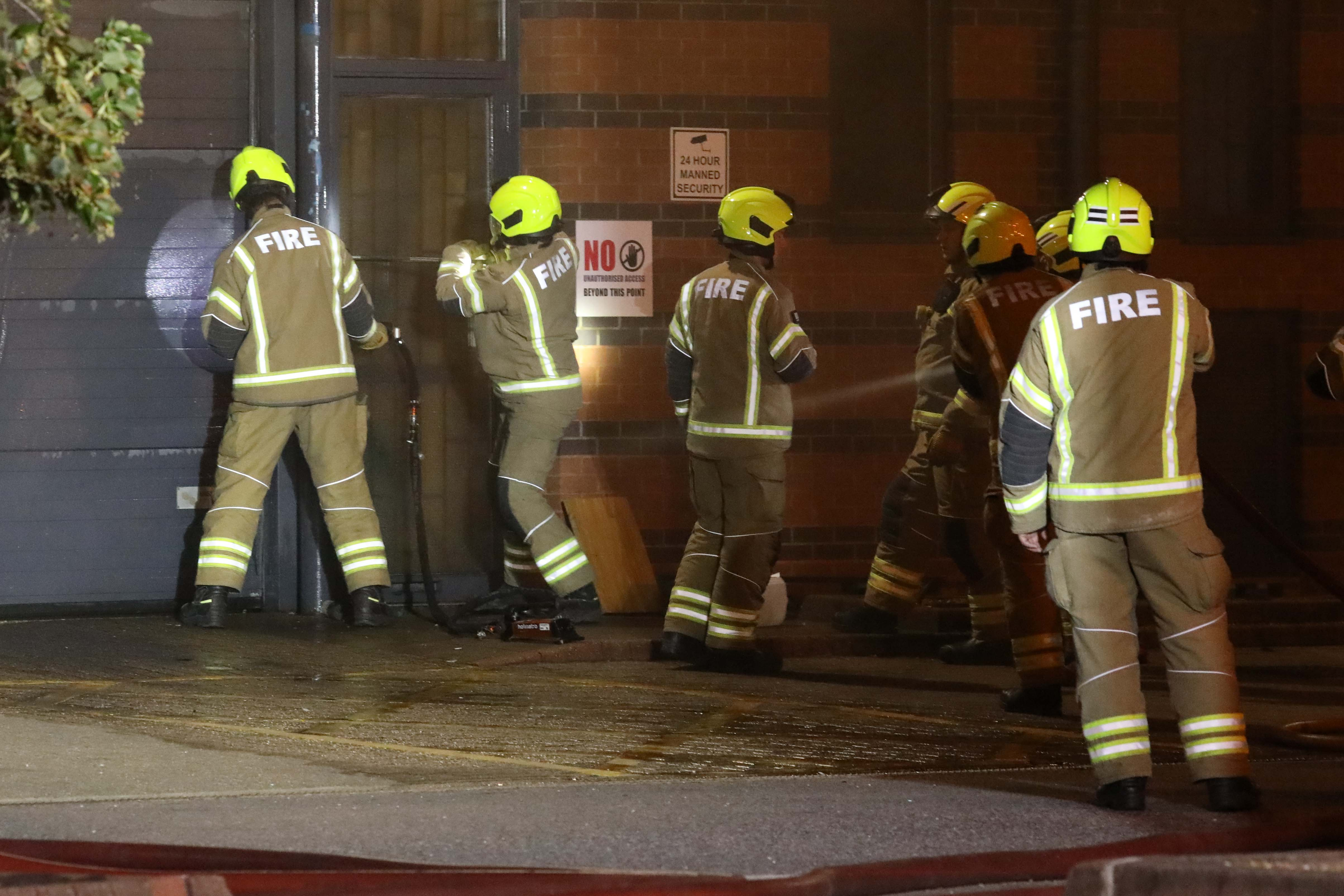 Forty firefighters called to tackle two industrial units ablaze in Barking, UKNIP
