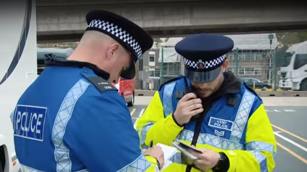 Kent Police officers
